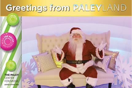 2018 PaleyLand NY Santa armsup photocard